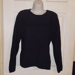 Talbots Long Sleeve Navy Blue Pullover Sweater
